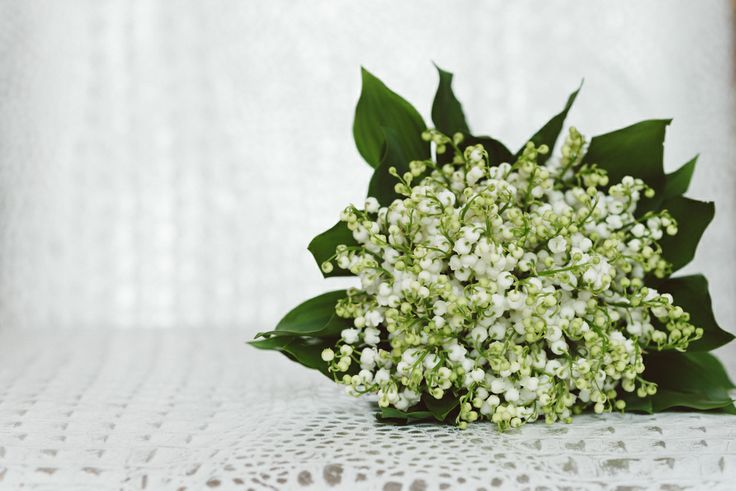 Lily of the Valley bridal bouquet.