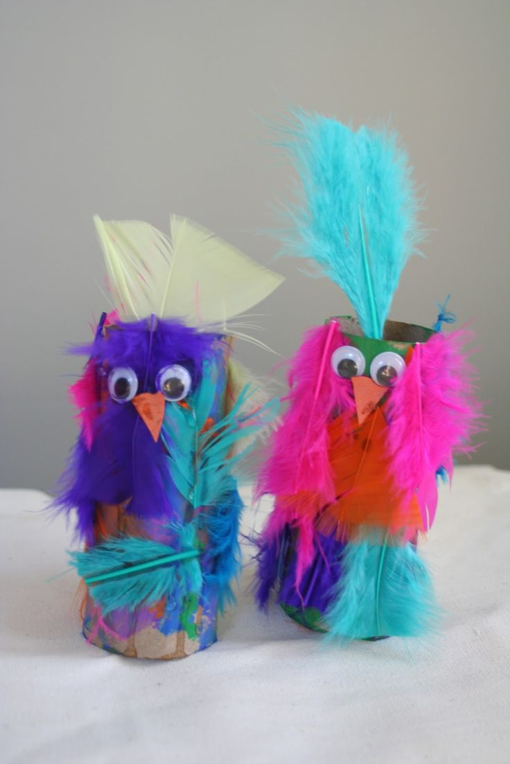 "Cute cardboard tube parrots ("",)"