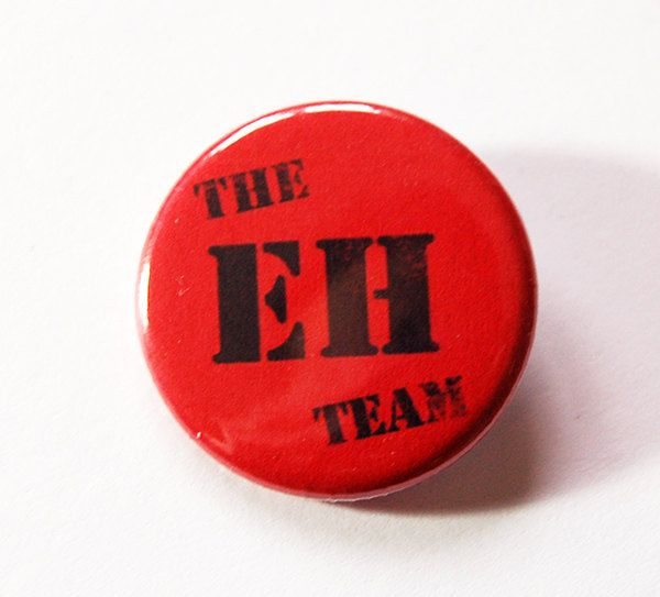 The EH Team, Canada A, Canada Pin, Pinback buttons, Lapel Pin, Canadian Pride, Canada Eh, Red White, Loves Canada, Canada Day (5432) by KellysMagnets on Etsy