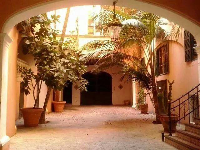Patio interior en Palma de Mallorca-España