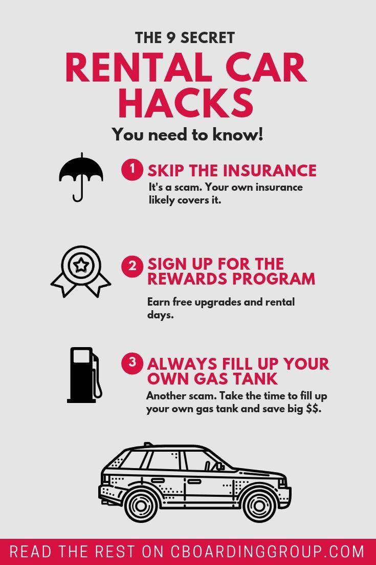 9 Secret Rental Car Hacks You Need To Know Car Rental Car Hacks Car Experience