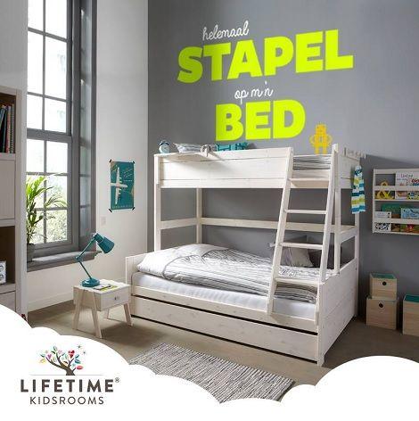 Life Time Stapelbed Hoek.Lifetime Stapelbed Laag Bed 120x200 Hoog Bed 90x200 Cm Bedlade
