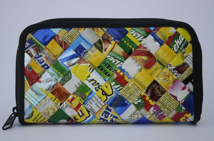 Zip wallet using candy wrappers