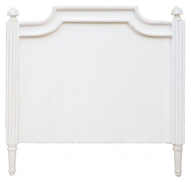 Testata letto singola in legno teak bianco shabby chic Blanc MariClò - TESTATE LETTO - MOBILI