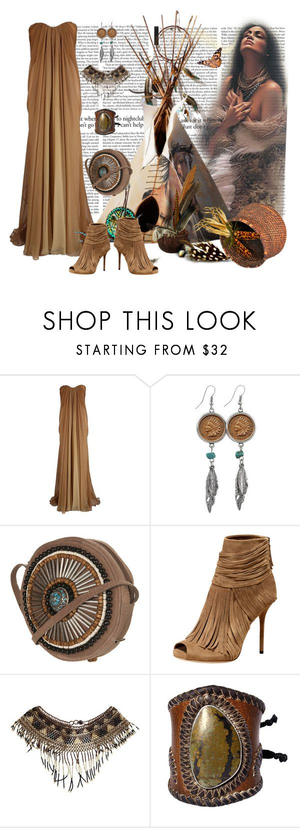 """""""INDIAN PRINCESS"""" by sherrysrosecottage-1 ❤ liked on Polyvore featuring Alexander McQueen, American Coin Treasures, Gucci, Jens Pirate Booty and Été Swim"""