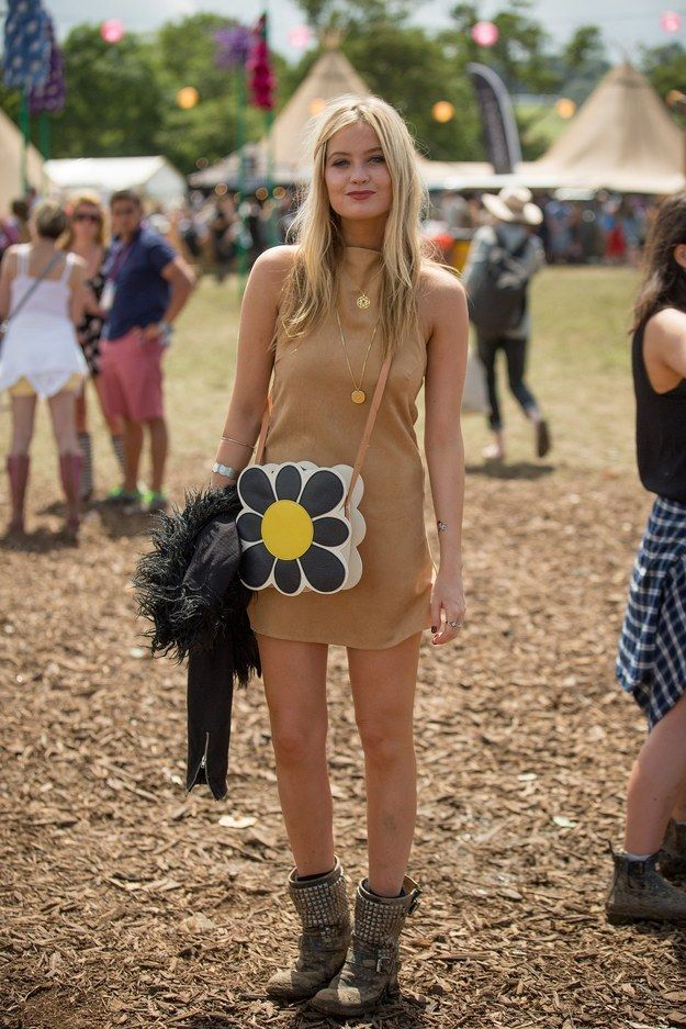 Laura Whitmore | All The Celebrity Fashion At Glastonbury 2015