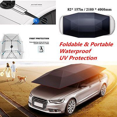 ﹩228.89. Portable Semi-automatic Outdoor Car Tent Umbrella Sunshade Roof Cover Antil-UV    Manufacturer Part Number - Does Not Apply, Warranty - 6 Month, Tent material - top nylon and pvc, Max power - 100N, Feature - Foldable,Portable,Waterproof,UV Protection, UPC - 5462987451230