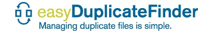 Easy Duplicate File Finder. I am currently trying out the free version of this program. Has much potential for cleaning up my 4 full Ext. Hard Drives - keeping my fingers crossed that it does what it claims. :)