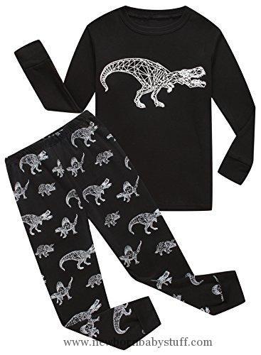 Baby Boy Clothes Family Feeling Dinosaur Baby Boys Long Sleeve Pajamas Sets 100% Cotton Pyjamas Toddler Infant Kids 18-24 Months Black