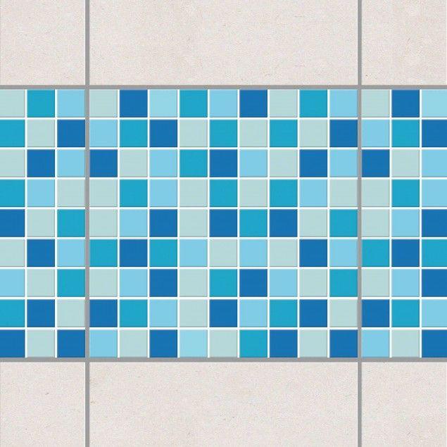 Fliesen Bordüre - selbstklebende Mosaikfliesen Meeresrauschen 20x20 cm - Fliesenaufkleber