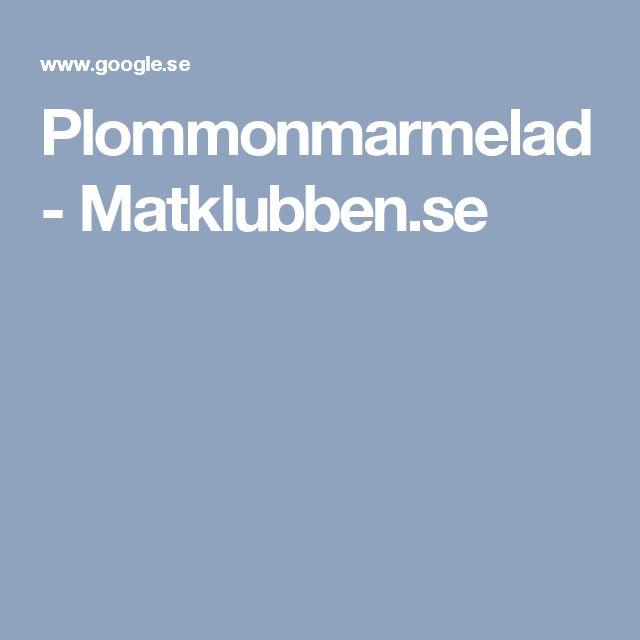 Plommonmarmelad - Matklubben.se