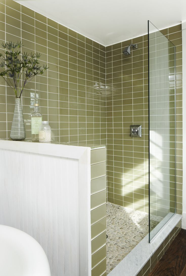Green glass bathroom tile - Stone Floor Green Glass Tile Broom Bathroom