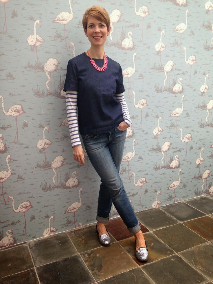 Style Guile: Double denim - with a touch of sparkle from Zara (and Boden) and hot pink from Alice's Wonders