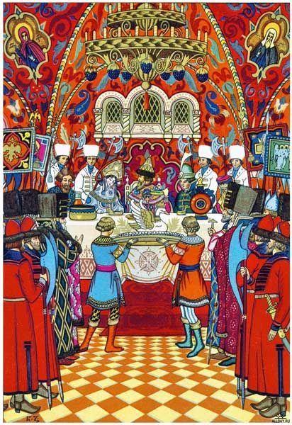 "Борис Зворыкин. Иллюстрация к сказке А. С. Пушкина  ""Сказка о царе Салтане""."