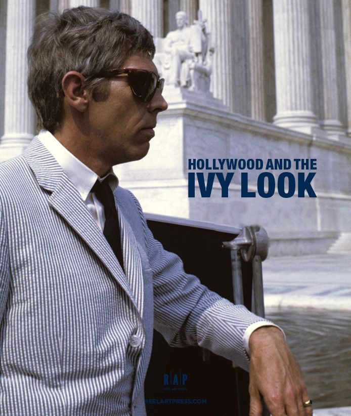 """hollywoodandtheivylook:  """" James Coburn in his impecable seersucker suite and Persol sunglasses is featured in the new Coffee Table Book: Hollywood and The Ivy Look.  Published by Reel Art Press  """""""