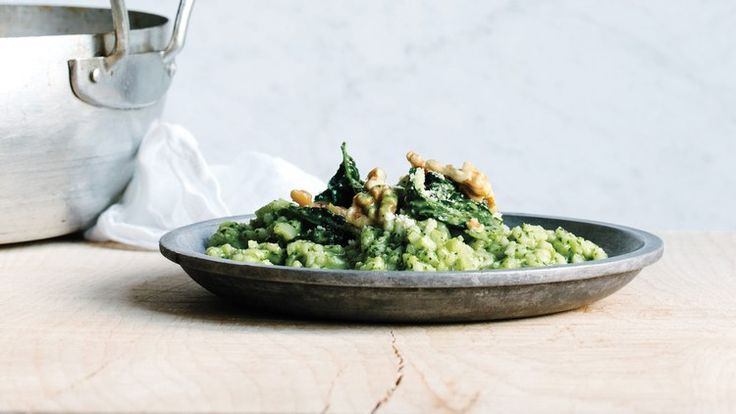 QUICK MEAL!  Oven Risotto with Kale Pesto Recipe | Bon Appetit