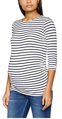 New Look Maternity Women's Breton Stripe Long Sleeves T-Shirt