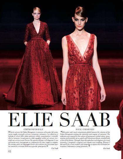 Focus on Elie Saab in Paris chapter. #ElieSaab #HauteCouture #catwalks #fashion #woman #style #clothes #dress #look