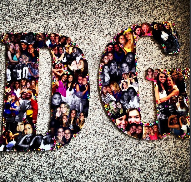 Delta Gamma pic collage on letters.  One day i wanna do this for my little!