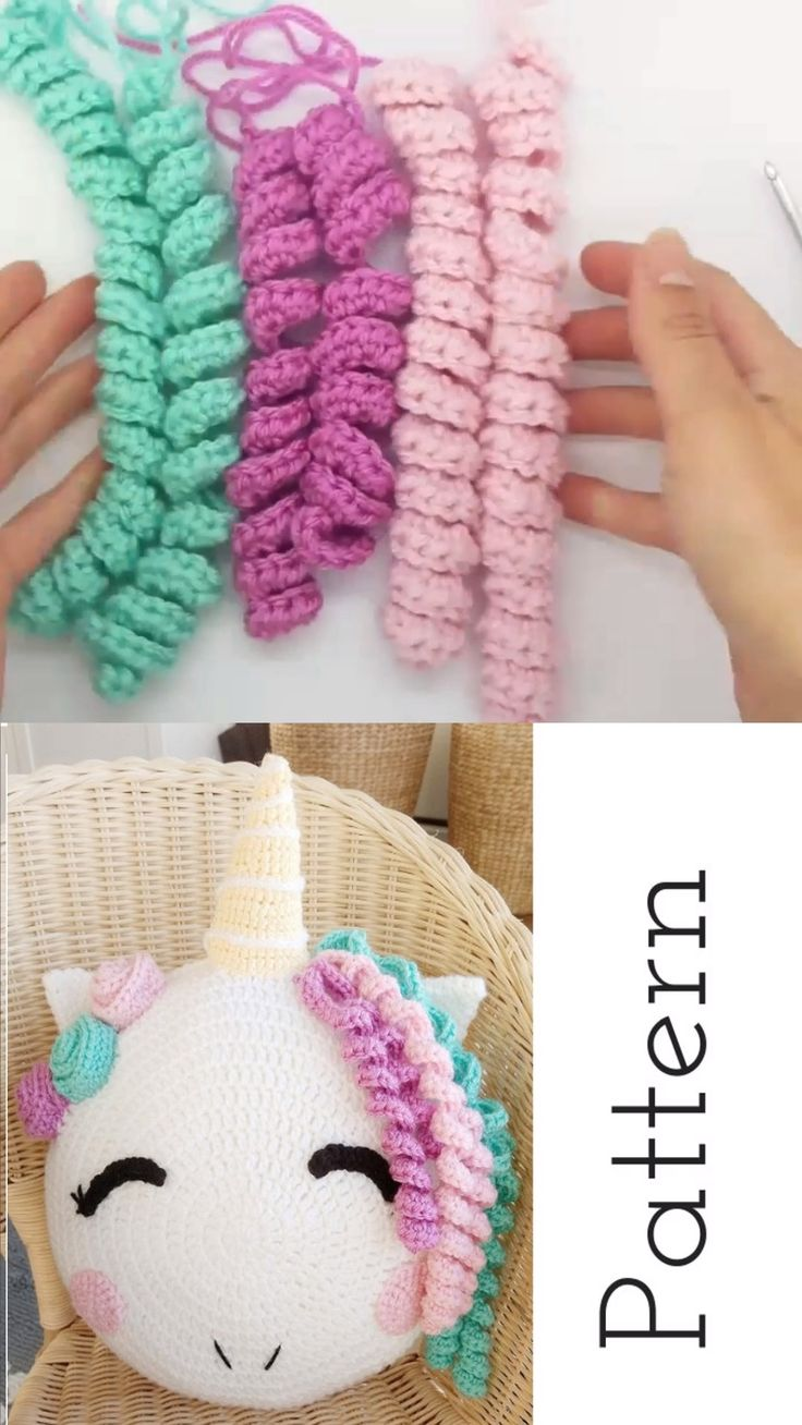 Crochet Unicorn Stuffed Pillow Pattern