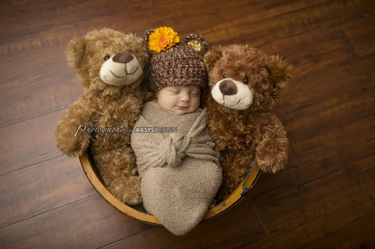 Baby Bear Hat - Fall Autumn Hat- Photography Prop - Baby Girl or Baby Boy. $28.00, via Etsy.