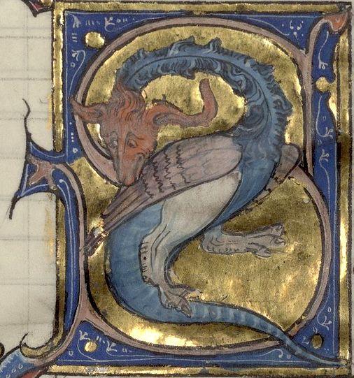 «C'est li dis dou dragon» -- Recueil d'anciennes poésies françaises, 1275-1300, France -- Bibliothèque de l'Arsenal (Paris), Ms 3142, f°307v