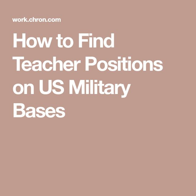 How to Find Teacher Positions on US Military Bases