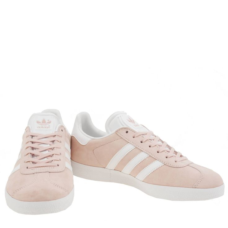 womens adidas pale pink gazelle suede trainers