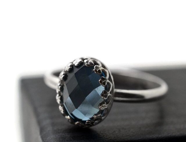London Blue Topaz Ring, Blue Gemstone Ring, Sterling Jewelry, Oval Jewel Ring, Topaz Jewelry, by fifthheaven on Etsy https://www.etsy.com/listing/186805814/london-blue-topaz-ring-blue-gemstone