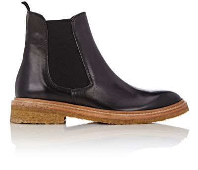 Barneys New York Crepe-Sole Chelsea Boots at Barneys New York
