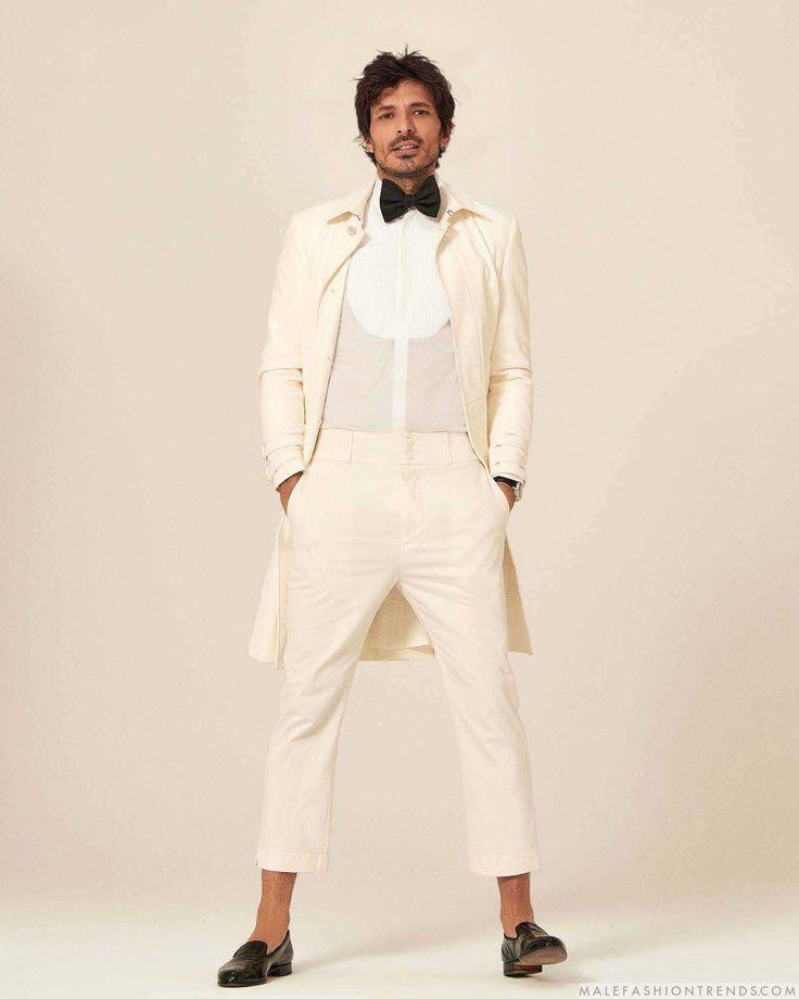 Male Fashion Trends: Andrés Velencoso se salta la regla de etiqueta para Fuera de Serie