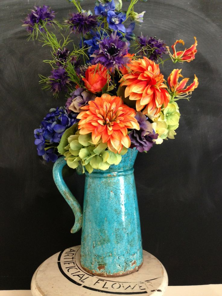 Bright country style artificial flowers
