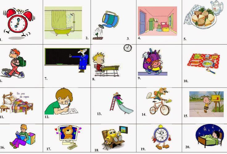 La classe de français: Parler de sa routine quotidienne. Exemple audio en ligne et activités de classe
