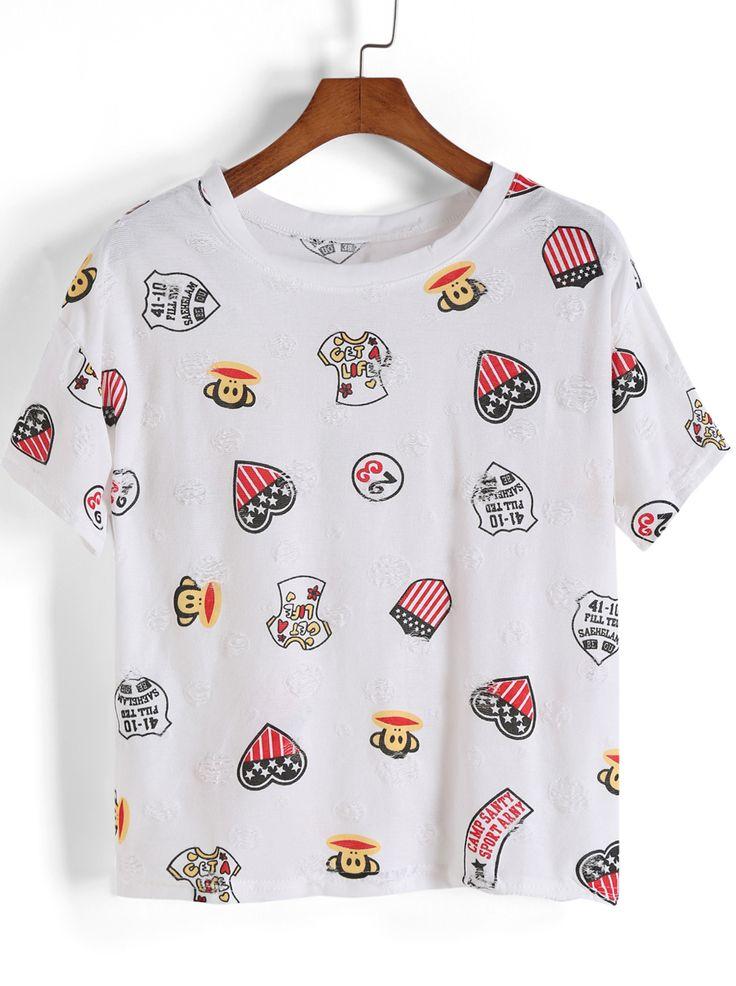 camiseta Paul Frank-blanco 8.54