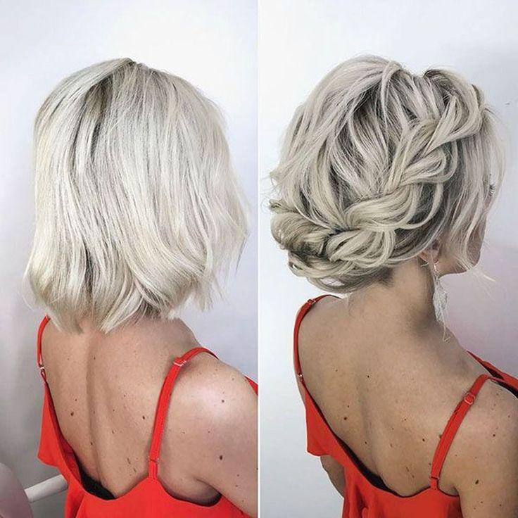 20+ Pretty Short Hair Updo Hairstyle Ideas