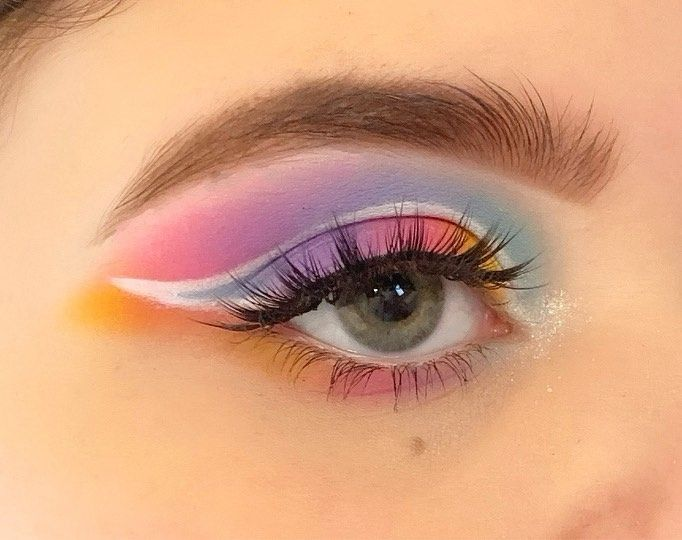 Makeup Beauty Pastel Art Eyebrows Creative Creativemakeup