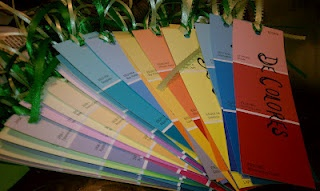 De Colores Paint Chip Bookmarks  Great book marks for the men.