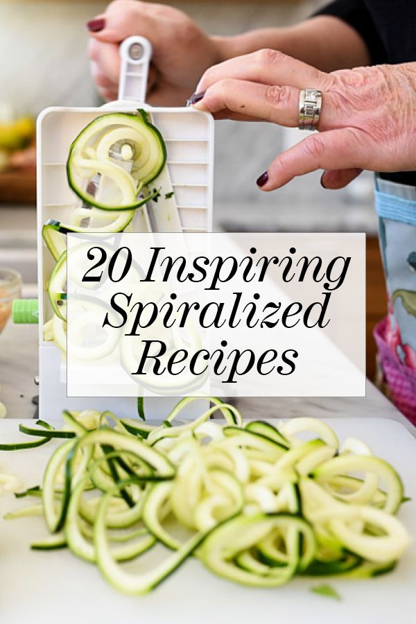 If you haven't hopped on the spiralizer bandwagon yet, we promise you're going to want to after you see some of these recipes. 20 Inspiring #Spiralized Recipes #spiralizer #zoodles | foodiecrush.com