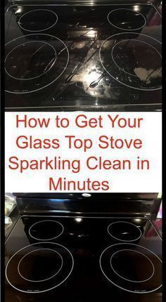 0b4945987ffdf8bd754033d6cd164761 Cleaning hack to clean your glass stove in just a few minutes.