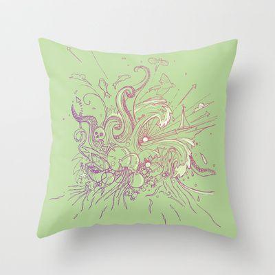 Sea Sick Throw Pillow by Lucy Corrina - $20.00