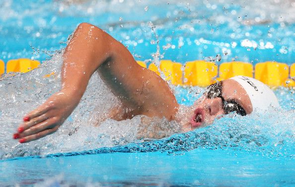 Eleanor Faulkner of Great Britain competes during the Swimming Women's 800m Freestyle preliminaries heat four on day fourteen of the 15th FINA World Championships at Palau Sant Jordi on August 2, 2013 in Barcelona, Spain.