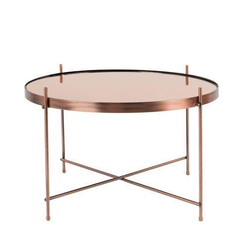 Table basse métal plateau miroir Cupid Large ZUIVER - 3Suisses