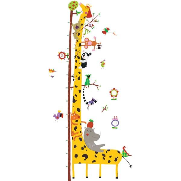 Giraffe Height Chart Wall Stickers