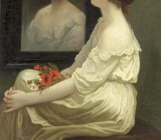 Jules Romain Pécher - Girl in front of a Mirror /detail/
