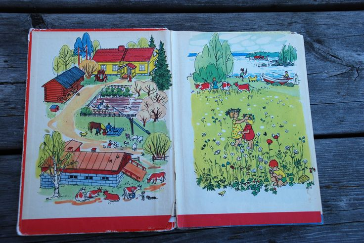 Kultainen aapinen, ABC-book, 1956. Illustrated by Maija Karma