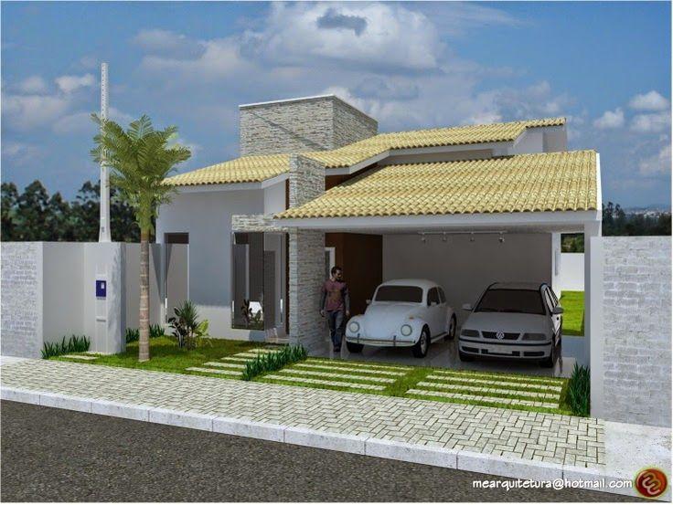 Decor Salteado - Blog de Decoração e Arquitetura : Fachadas de Casas Térreas – veja 20 modelos modernos e bonitos!