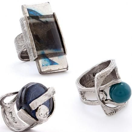 ANNE-MARIE CHAGNON Collection LUV Automne-Hiver | Fall-Winter Bagues/rings: VERBENA - mer gris/grey sea, EUCARIS - marine/navy,, DELONIX - sarcelle/teal