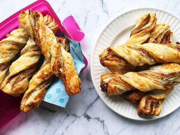 Vegemite cheese puff pastry twists