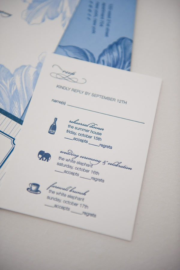 funny wedding invitation rsvp goes viral%0A Nantucket Wedding by Soiree Floral   Brea McDonald Photography
