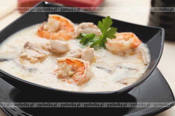 Odkrywamy ciekawe pomysły na zupy.Zupa krewetkowa pikantna. Przepis na tą zupę zawiera: krewetki, kalmary, bulion drobiowy.